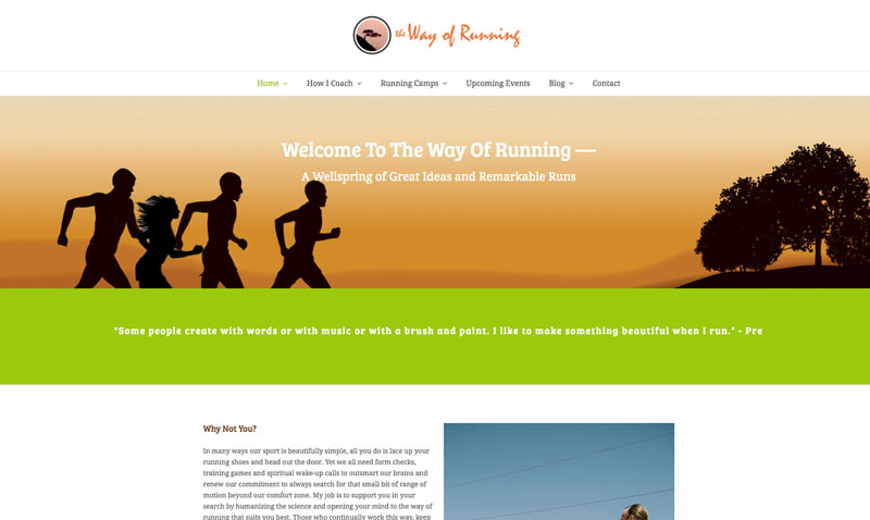 The Way of Running - Website preview