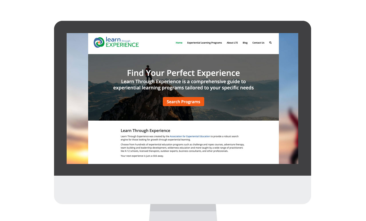 Learn through Experience Homepage